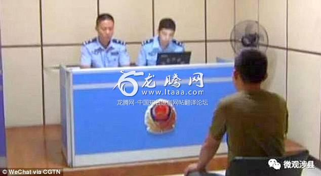The man was detained by police officers for his post on Chinese social media