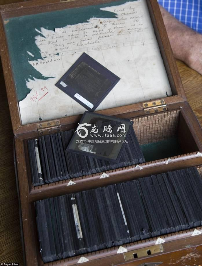 The glass slides of rare photo negatives provide a valuable insight into the lives of Chinese workers during the First World War