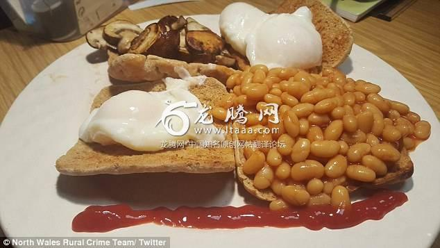 Referring to the incident the team tweeted a picture of a meat-free breakfast with a line of ketchup underneath it saying: 'At some point you have to draw a line under it...'