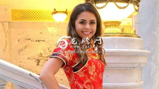 PHOTO: Keziah Daum an 18-year-old senior at Woods Cross High School Utah received immediate backlash after she posted photos of her dressed in a red qipao a traditional Chinese dress on prom night. (Michael Techmeyer )