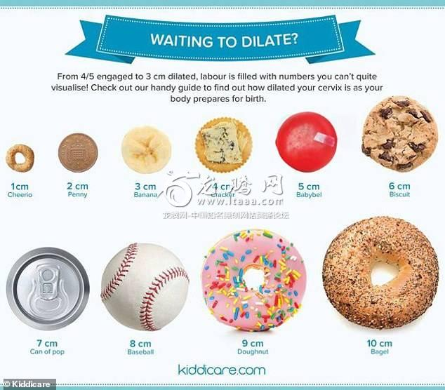 Oh no: Another one made by the site Kiddicare.com compares each centimeter to obxts or pieces of food — with 10 cm. represented by a bagel